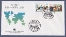 UNO Wien-UN Vienna FDC 1987 - MiNr. 75-76 - Tag Der Vereinten Nationen - FDC