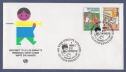 UNO Wien-UN Vienna FDC 1987 - MiNr. 77-78 - Kampagne Für Kinderschutzimpfungen - FDC