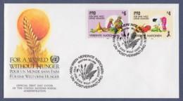 UNO Wien-UN Vienna FDC 1988 - MiNr. 79-80 - Für Eine Welt Ohne Hunger - FDC