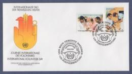 UNO Wien-UN Vienna FDC 1988 - MiNr. 83-84 - Internationaler Tag Des Entwicklungshelfers - FDC