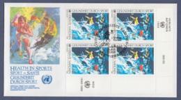 UNO Wien-UN Vienna FDC 1988 - MiNr. 85 - 4er Block - Gesundheit Durch Sport - FDC