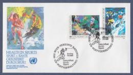 UNO Wien-UN Vienna FDC 1988 - MiNr. 85-86 - Gesundheit Durch Sport - FDC