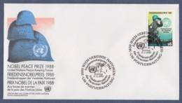 UNO Wien-UN Vienna FDC 1989 - MiNr. 91 - Friedensnobelpreises Für Die UNO-Friedenstruppen - FDC