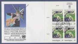 UNO Wien-UN Vienna FDC 1989 - MiNr. 92 - 4er Block - 25 Jahre Weltwetterwacht - FDC