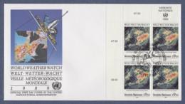 UNO Wien-UN Vienna FDC 1989 - MiNr. 93 - 4er Block - 25 Jahre Weltwetterwacht - FDC
