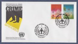 UNO Wien-UN Vienna FDC 1990 - MiNr. 106-107 - Kongress Zur Verbrechensverhütung - FDC