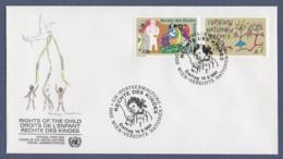 UNO Wien-UN Vienna FDC 1991 - MiNr. 117-118 - Konvention Der Vereinten Nationen über Die Rechte Des Kindes - FDC