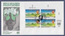 UNO Wien-UN Vienna FDC 1991 - MiNr. 119 - 4er Block - Verbot Von Chemischen Waffen - FDC