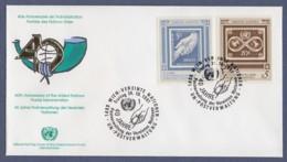 UNO Wien-UN Vienna FDC 1991 - MiNr. 121-122 - 40 Jahre Postverwaltung Der Vereinten Nationen - FDC