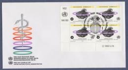 UNO Wien-UN Vienna FDC 1993 - MiNr. 147 - 4er Block - 45 Jahre Weltgesundheitsorganisation (WHO) - FDC