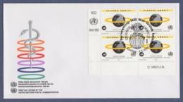 UNO Wien-UN Vienna FDC 1993 - MiNr. 148 - 4er Block - 45 Jahre Weltgesundheitsorganisation (WHO) - FDC