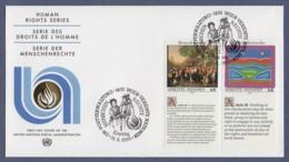 UNO Wien-UN Vienna FDC 1993 - MiNr. 150-151 - Allgemeine Erklärung Der Menschenrechte - Zf In Englisch - FDC