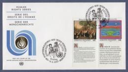 UNO Wien-UN Vienna FDC 1993 - MiNr. 150-151 - Allgemeine Erklärung Der Menschenrechte - Zf In Französisch - FDC