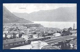 Suisse. Lugano. Panorama. Gare. Train. Campanile De Saint Laurent. - TI Ticino