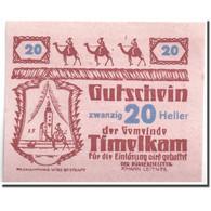 Billet, Autriche, Timelkam, 20 Heller, Personnage 2, 1920, 1920-04-01, SPL - Austria
