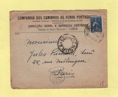 Portugal - 1918 - Destination France - Censure N°25 - 1910-... République