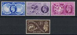 GREAT BRITAIN 1949 UPU - Unused Stamps