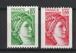 FRANCE SABINE 1977-78 YT N° 1980 à 1981B ** - 1977-81 Sabine De Gandon