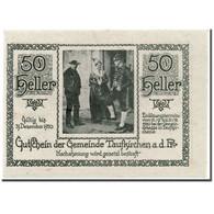 Billet, Autriche, Taufkirchen An Der Pram, 50 Heller, Personnage, 1920 - Austria