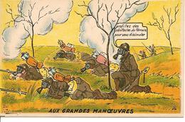 """ Aux Grandes Manoeuvres ""  Humour Militaire Ed Gaby - Umoristiche"