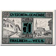 Billet, Autriche, Thalheim Bei Wels, 50 Heller, Eglise, 1920, 1920-05-15, SPL - Austria