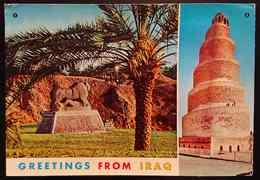 IRAQ / IRAK - Greetings From Iraq - The Lion Of Babylon, Hillah - The Spiral (Malweyah) Tower, Samarra - Vg - Iraq