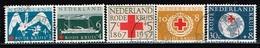 PAYS-BAS - Oblitérés/Used/ 1957- 90 éme Anniversaire De La Croix Rouge - Period 1949-1980 (Juliana)
