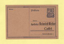 Allemagne - Entier Avec Repiquage Apotheker Heinrich Welter - Germany