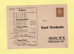 Allemagne - Entier Avec Repiquage Carl Gerbode - Germany