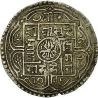 Monnaie, Népal, SHAH DYNASTY, Surendra Vikrama, Mohar, 1872 (1794 SE), TB+ - Népal