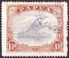 PAPUA 1927 1.5d Cobalt & Light Brown SG95b Used - Papua New Guinea