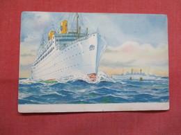 Swedish American Line Kungsholm Gripsholm  Sweden  Stamp &  Cancel      Ref 3491 - Other