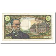 France, 5 Francs, Pasteur, 1968-04-04, TTB, Fayette:61.7, KM:146b - 1962-1997 ''Francs''