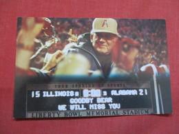 Coach Paul Bryant Last Game Dec 29  1982    Ref 3491 - Postcards
