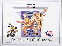 030. VIETNAM 1994 STAMP M/S WORLD CUP FOOTBALL . MNH - Vietnam