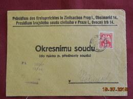 Lettre De 1944 Au Depart De Prague - Bohême & Moravie