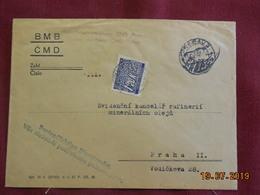 Lettre De 1944 à Destination De Prague (timbre De Service) - Bohême & Moravie