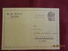 Carte Entier Postal De 1942 à Destination De .... - Bohême & Moravie