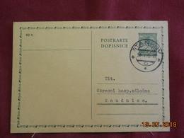 Carte Entier Postal De 1940 à Destination De Roudnice - Bohême & Moravie