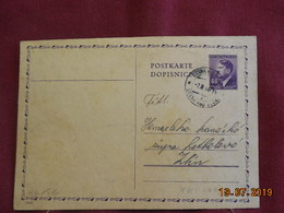 Carte Entier Postal De 1944 - Bohême & Moravie