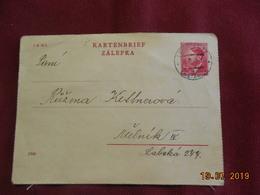 Carte Entier Postal De 1943 - Bohême & Moravie