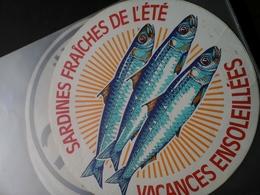 Autocollant Pub - Sardines Fraiches De L'été -Vacances Ensoleillées - Adesivi