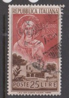 Italy Republic S 719 1953 St Claire Of Assisi 700th Death Anniversary,used - 6. 1946-.. Republic