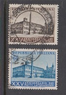 Italy Republic S 733-734 1954 Lateran Pacts,used - 6. 1946-.. Republic