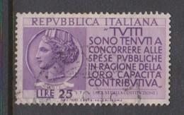 Italy Republic S 737 1954 Tax Propaganda,used - 6. 1946-.. Republic