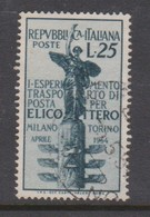 Italy Republic S 738 1954 Helicopter Mail Service Experiment,used - 6. 1946-.. Republic