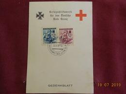 Carte (support De Timbre) De 1942 De Bohème & Moravie Pour La Croix-Rouge - Bohême & Moravie