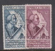 Italy Republic S 749-750 1954 5th Centenary Birth Of Amerigo Vespucci,used - 6. 1946-.. Republic