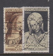Italy Republic S 751-752 1954 Marian Year,used - 6. 1946-.. Republic