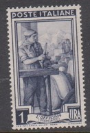 Italy Republic S 755 1955-57 Workers,Watermark Stars,1 Lira,Mint Hinged - 6. 1946-.. Republic